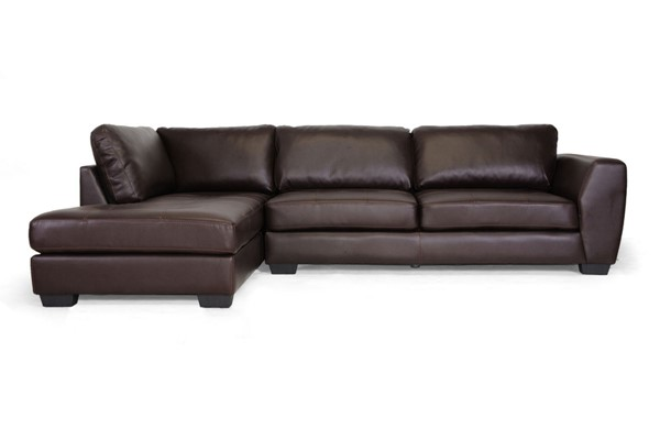 Baxton Studio Orland Leather Sectional Sofa Set with Left Facing Chaises BAX-IDS023-LSEC-VAR