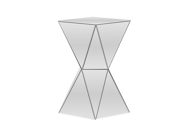 Baxton Studio Rebecca Silver Mirrored Side Table BAX-RS1764