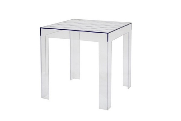Baxton Studio Parq Clear Acrylic Square End Table BAX-RT-637