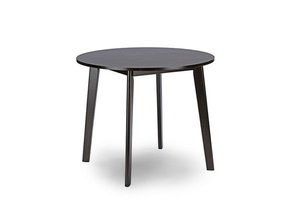 Baxton Studio Debbie Dark Brown Wood Round Dining Table BAX-RT332-TBL