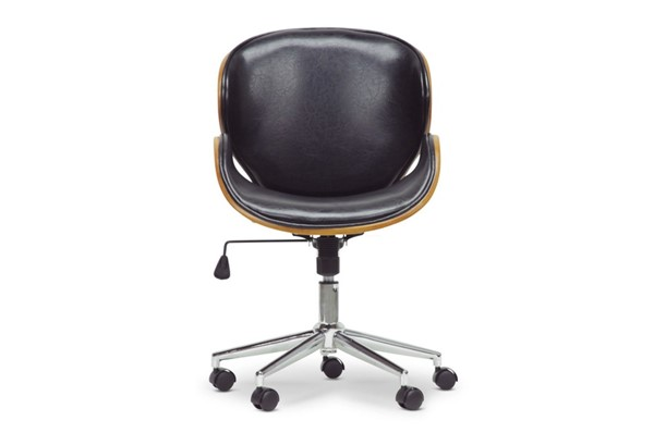 Baxton Studio Bruce Faux Leather Office Chairs BAX-SDM-2240-5-OFCH-VAR