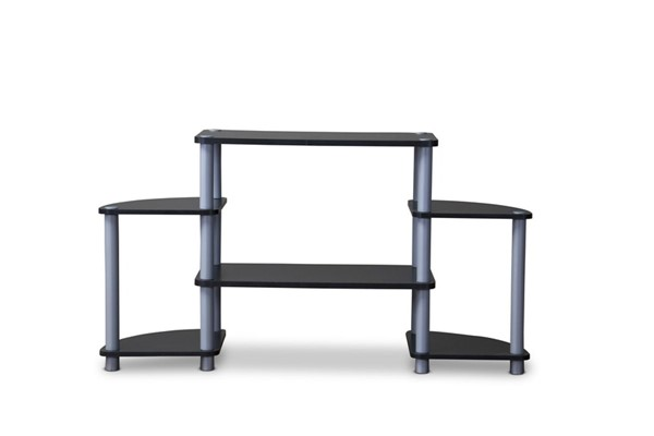 Baxton Studio Orbit Black 3 Tier TV Stand BAX-TR-124