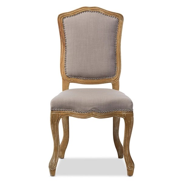 Baxton Studio Chateauneuf Beige Fabric Upholstered Dining Side Chair BAX-TSF-9345