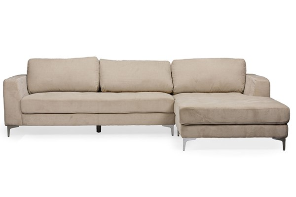 Baxton Studio Agnew Light Beige Fabric Right Facing Sectional Sofa BAX-U9320S-LRBI-RFC-Sectional