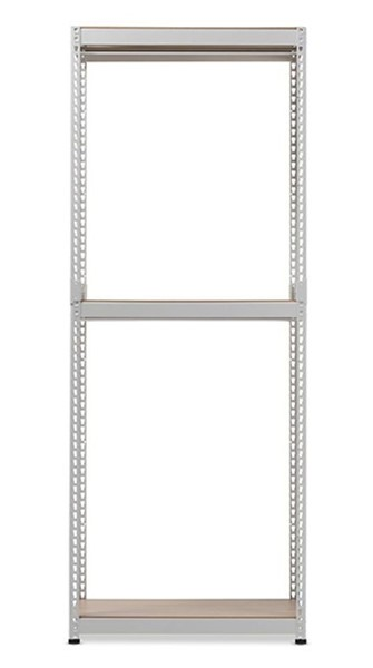 Baxton Studio Gavin White Metal 3 Shelves Closet Storage Racking Organizer BAX-WH06-White-Shelf