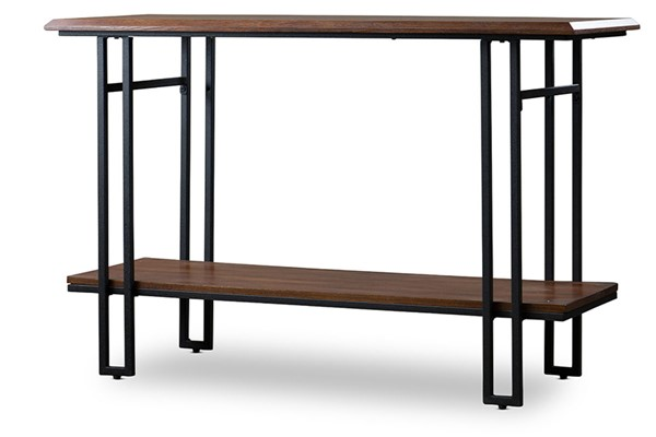 Baxton Studio Newcastle Brown Wood Rectangle Console Table BAX-YLX-2646-ST