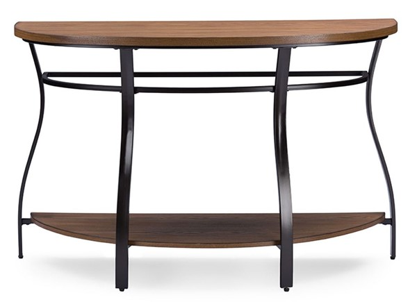 Baxton Studio Newcastle Brown Wood Half Oval Console Table BAX-YLX-2682-ST