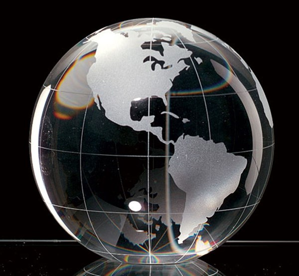 Globe Paperweight 3.25 Inch H123 BDSH-H123