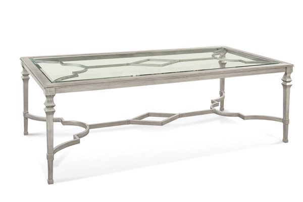 Traditional Metal Glass Sylvia Dining Table BMC-1212-600EC