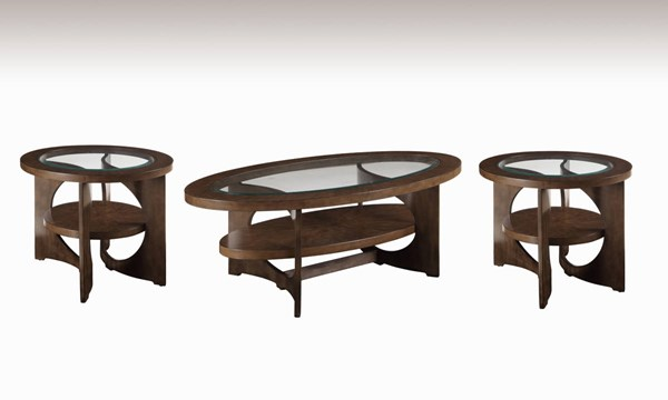 Alford Grey Wood Glass 3pc Coffee Table Set w/Oval Coffee Table BMC-2795-OVAL-CT-S