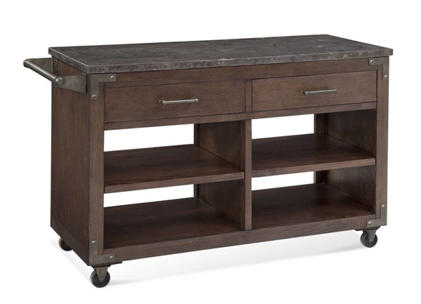 Haskell Mocha Taupe Wood Haskell Bar Cart BMC-2891-490EC