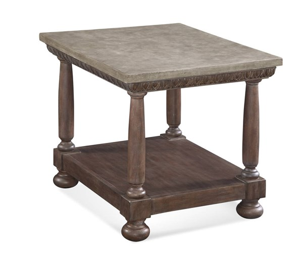 Worthington Dusted Tobacco Wood Rectangle End Table BMC-2904-200B-TEC