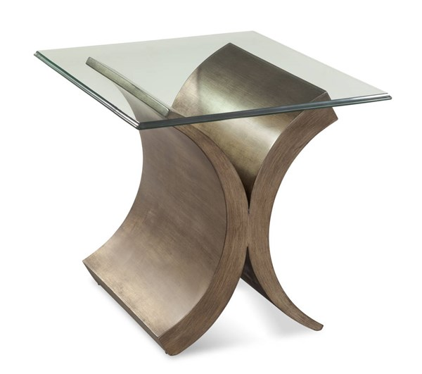 Symmetry Brushed Bronze Wood Rectangle End Table Base BMC-2914-200BEC
