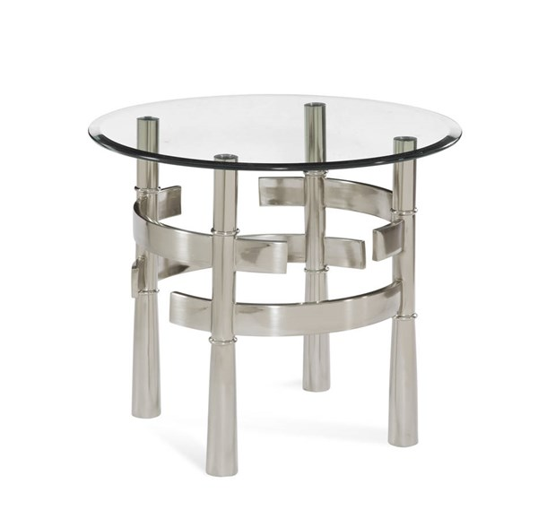Contour Tapered Clear Glass Round End Table Top BMC-2924-220TEC