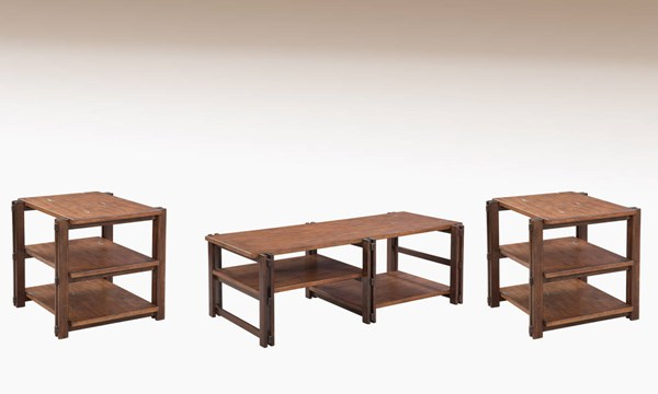 Holbrook Wood Shelves 3pc Coffee Table Set BMC-3004-CT-S