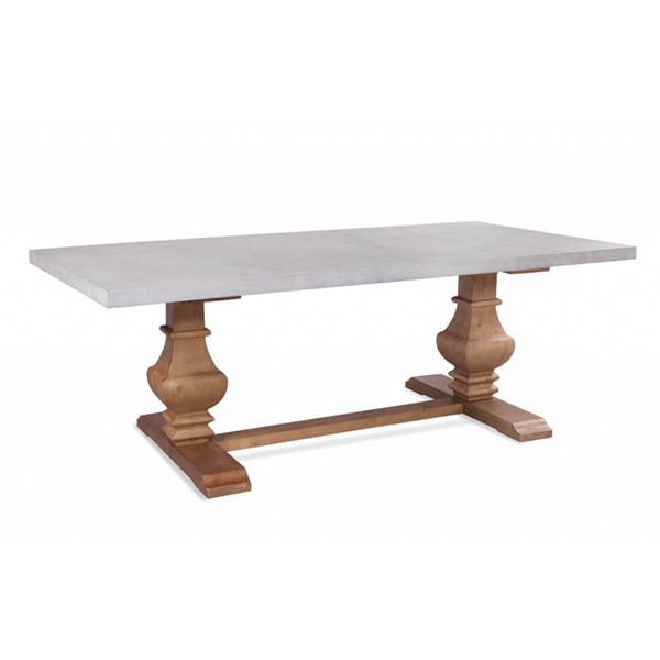 Bassett Mirror Kinzie Rustic Pine Marble Dining Table BMC-3170-600-743