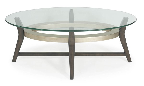Bassett Mirror Elston Taupe Champaign Oval Cocktail Table BMC-3220-140B-TEC