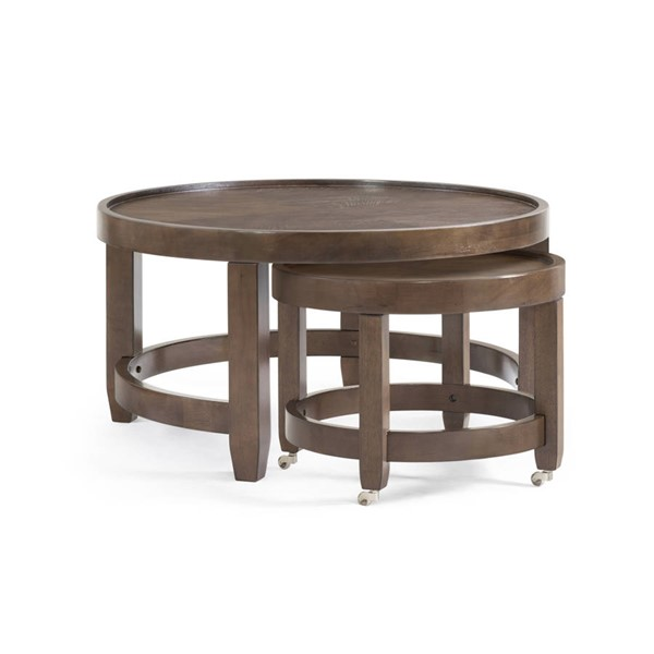 Bassett Mirror Paxton Brown Round Cocktail Table BMC-3237-LR-120