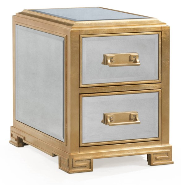 Bassett Mirror Alcott Gold Chairside End Table BMC-5520-LR-203