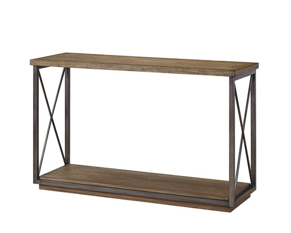 Bassett Mirror Austin Gray Pecan Console Table BMC-5660-LR-400