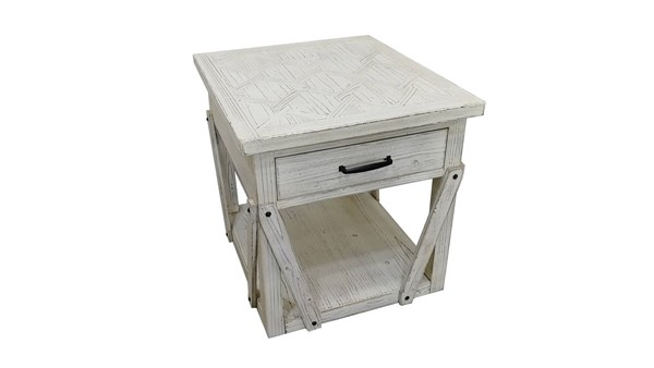 Bassett Mirror Santee Whitewashed Pine Rectangle End Table BMC-5940-LR-200