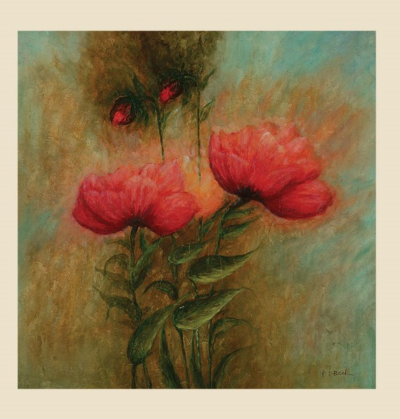 Floral Two Reds Square Wall Art (L 60 X H 60) BMC-7200-180EC