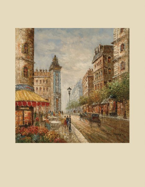 Old World Canvas Square Flower Market Wall Art BMC-7200-295EC