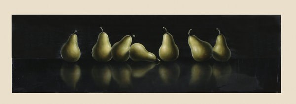 Contemporary Canvas Pears Reflections High Gloss Wall Art BMC-7200-901EC