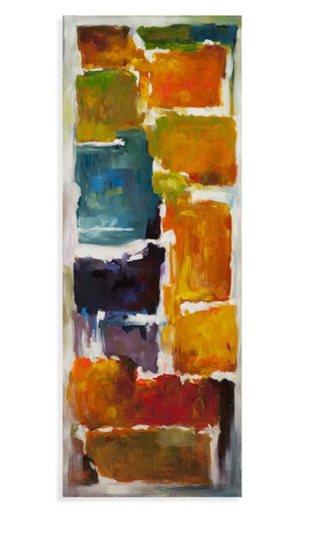 Modern Acrylic Canvas Rectangle Colorful Blocks (L 27 X H 70) BMC-7300-192AEC