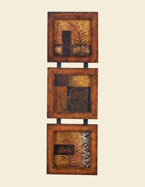 Wrapped Rectangle Traces Of Leaves Wall Art BMC-7500-448EC