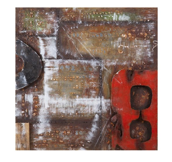 Abstract Square Numeral II Wall Art (L 40 X H 40) BMC-7500-630BEC
