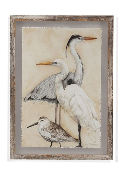 Bassett Mirror Watercolor Waterbirds I Wall Art BMC-990-580A