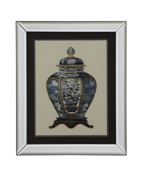 Traditional Abstract Blue Porcelain Vase I Wall Art BMC-9900-143AEC