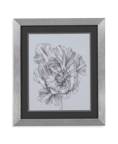 Stainless Steel Silvery Blue Tulips I Wall Art BMC-9900-183AEC