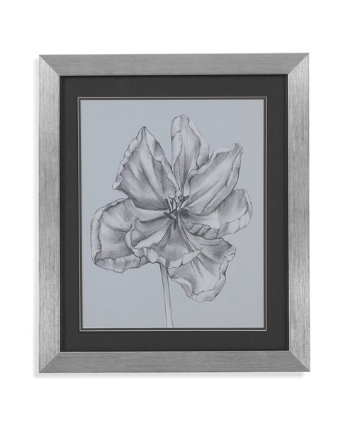 Stainless Steel Silvery Blue Tulips IV Wall Art BMC-9900-183EEC