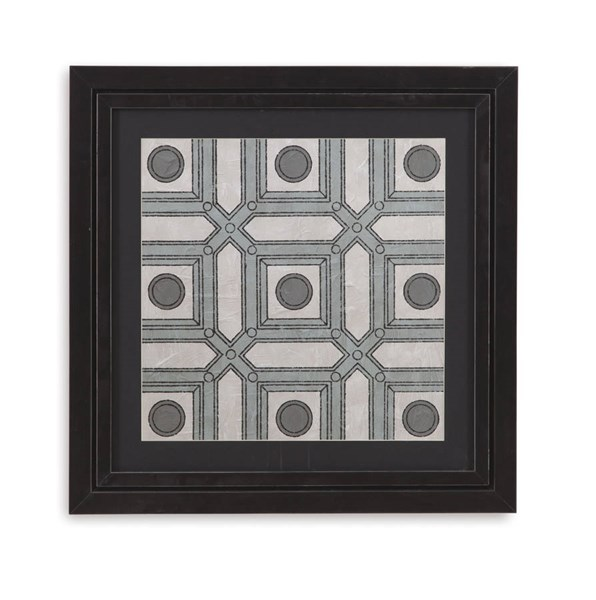 Brushed Silver Caisson III Architectural Wall Art BMC-9900-230CEC