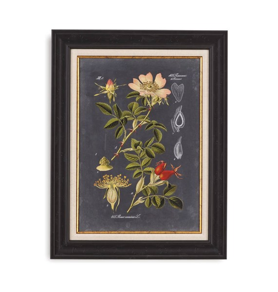 Resin Midnight Botanical I Floral Wall Art BMC-9900-231AEC