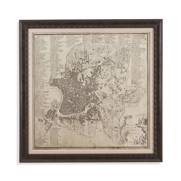 Charcoal Custom City Of Rome Architectural Wall Art BMC-9900-255EC