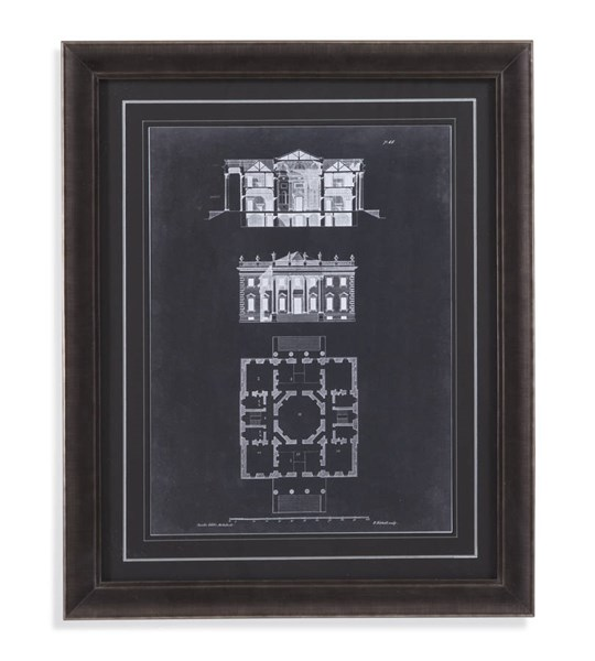 Charcoal Graphic Building V Architectural Wall Art BMC-9900-266BEC