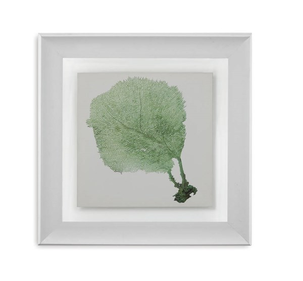 Green Resin Sea Fan II Tree Square Wall Art BMC-9900-322BEC