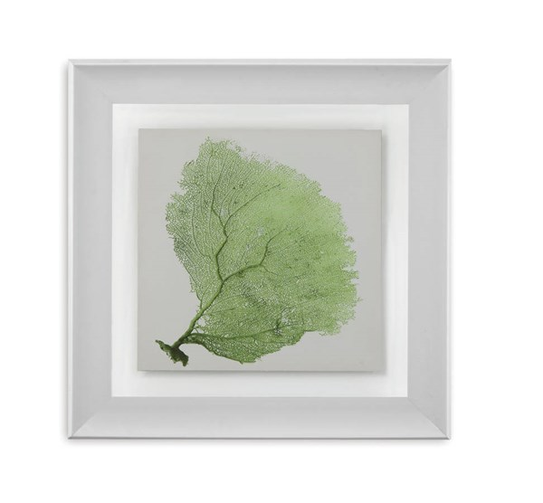Green Resin Sea Fan IX Tree Square Wall Art BMC-9900-322EEC
