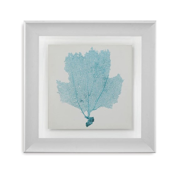 Light Sky Blue Resin Sea Fan III Tree Square Wall Art BMC-9900-323AEC