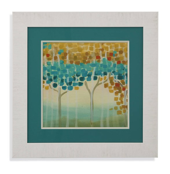 White Forest Mosaic II Nature Square Wall Art BMC-9900-422BEC