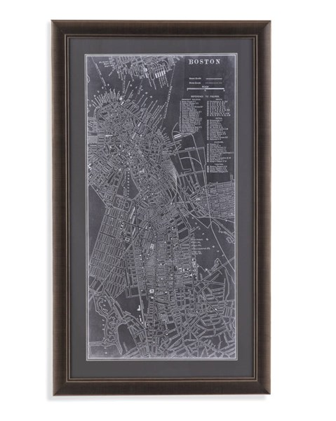 Graphic Map Of Boston (L 26 X H 44) BMC-9900-487BEC