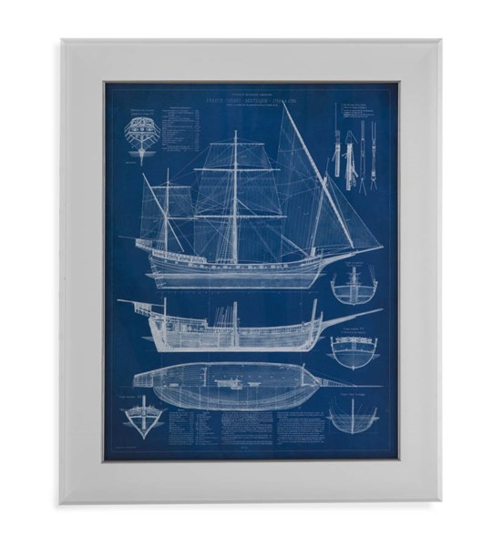 Antique Ship Blueprint I (L 28 X H 34) BMC-9900-528AEC