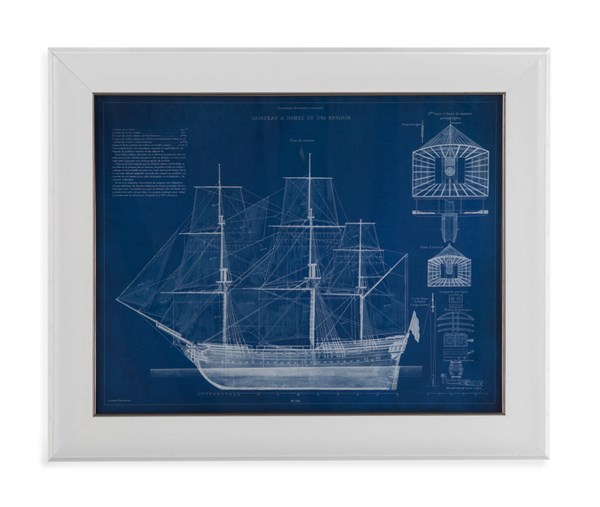 Antique Ship Blueprint IV (L 28 X H 34) BMC-9900-529BEC