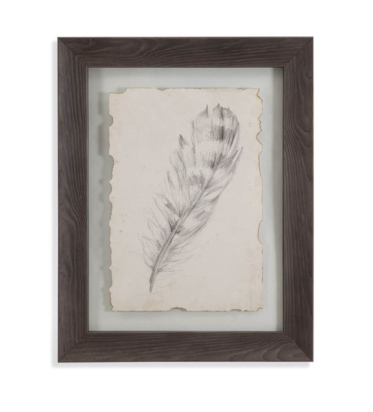 Bassett Mirror Aged Feather Sketch II Wall Art BMC-9900-599BEC