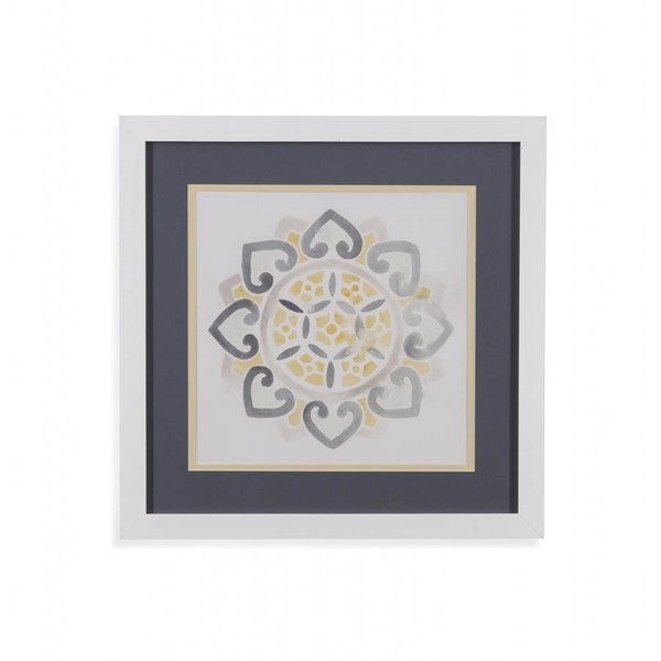 Bassett Mirror Yellow Grey Medallions IV Wall Art BMC-9901-030EEC