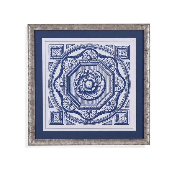 Bassett Mirror Deep Indigo Medallion I Wall Art BMC-9901-053AEC