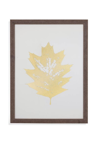 Bassett Mirror Gold Foil Leaf I Wall Art BMC-9901-122AEC